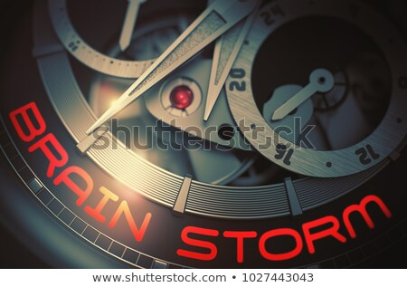 creative vision on the luxury men watch mechanism 3d stock photo © tashatuvango