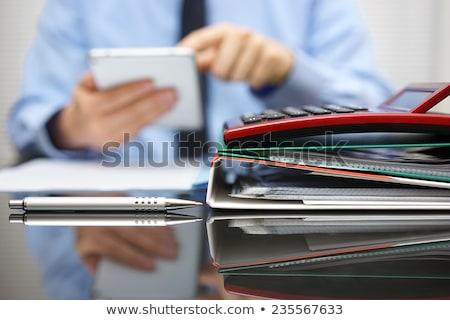 Schedules on Office Binder. Blurred Image. Stock photo © tashatuvango