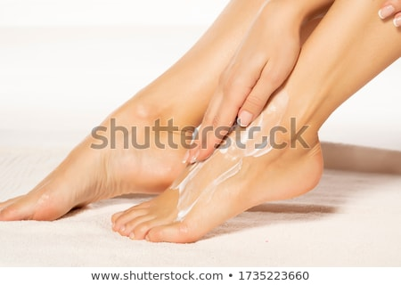 közelkép · nő · gyantázás · lábak · fehér · haj - stock fotó © ssuaphoto