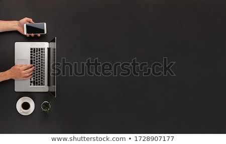 Overhead view of empty cupped male hands Stock photo © stevanovicigor