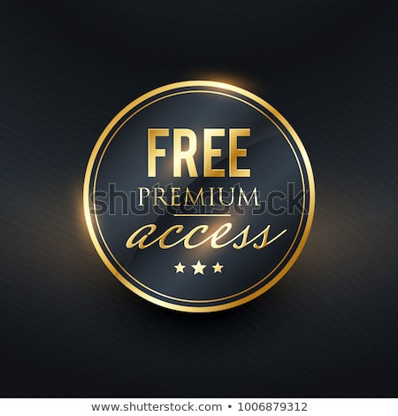 free premium access golden label design Stock photo © SArts