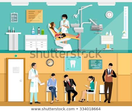 Paciente espera cirurgia dentária mulher médico cuidar Foto stock © IS2
