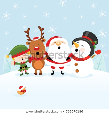 desenho · animado · árvore · de · natal · desenho · arte · bonitinho - foto stock © lenm