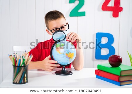 Children writing on a blackboard Stock photo © IS2