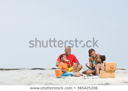 African american family on a beach Stock photo © IS2