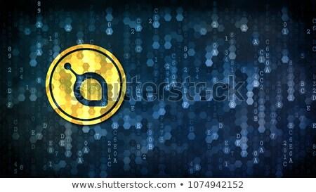 Siacoin - Trading Sign on Dark Digital Background. Stock photo © tashatuvango