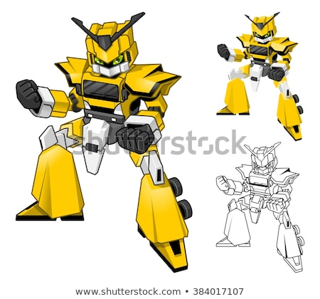Robot Cartoon Character Outlined Version Stock photo © Natali_Brill
