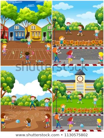 Gyerekek játék matematika játék park illusztráció Stock fotó © bluering