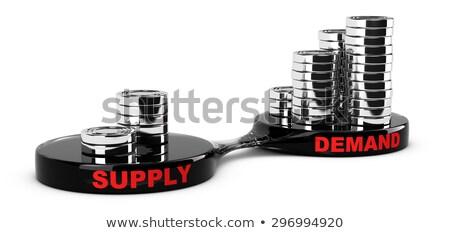 Magas követelés alacsony ellátás grafikon kéz Stock fotó © ivelin
