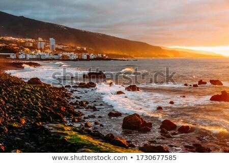 Piękna wygaśnięcia świetle hiszpanski ocean wody Zdjęcia stock © digoarpi