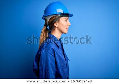 helmet worker women_relax Stock photo © toyotoyo