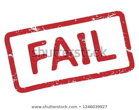 failure document with red stamp rejected square rubber seal vec stock photo © maryvalery