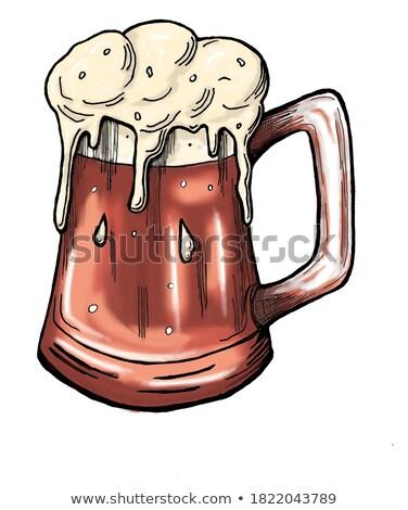 Oktoberfest strony plakat ilustracja świeże ciemne Zdjęcia stock © articular