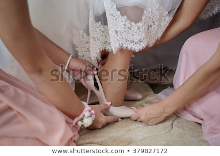 the bride and her girlfriends are preparing for wedding stock photo © ruslanshramko