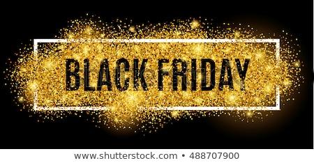 Black friday venda cartaz luz abstrato projeto Foto stock © SArts
