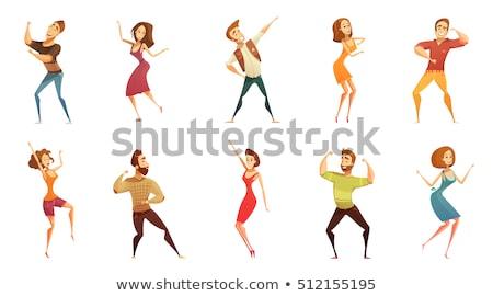 Cartoon disco człowiek pomysł ilustracja mężczyzn Zdjęcia stock © cthoman
