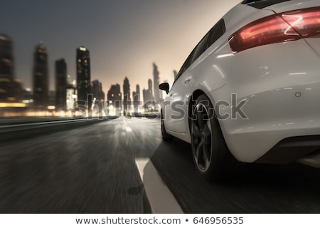 Cars going fast on a highway  Stock photo © lightpoet