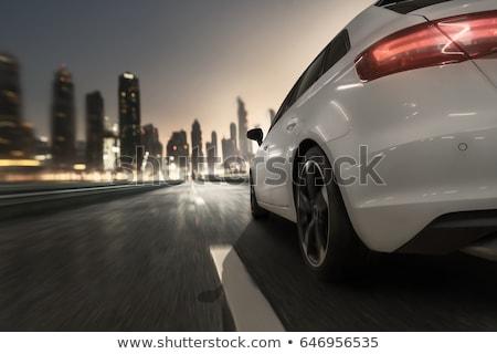 araba · hızlı · karayolu · hareket · bulanık · görüntü - stok fotoğraf © lightpoet