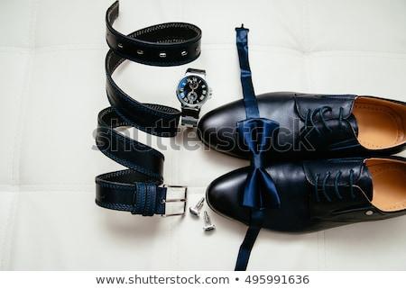 groom set clothes. Watch, shoes, bow tie Stock photo © ruslanshramko