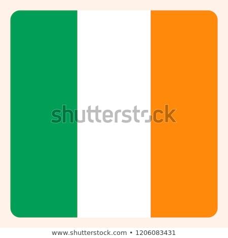 Irlanda bandiera piazza badge illustrazione sfondo Foto d'archivio © colematt