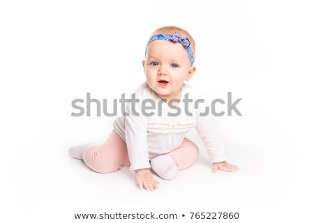 six month old baby, in front of a white background Stock photo © Lopolo