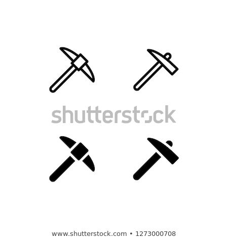 Negro hacha icono símbolo logo elemento Foto stock © blaskorizov