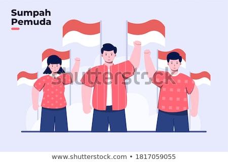 üdvözlet kártyák ünnep szellem rajz hősök Stock fotó © robuart