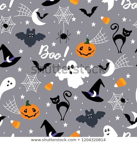 seamless pattern with halloween bats Stock photo © dolgachov