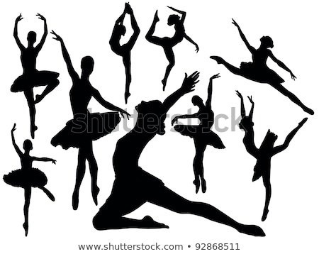 ballet dancer silhouette set stock photo © krisdog
