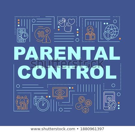 родительский контроль программное баннер родителей Сток-фото © RAStudio
