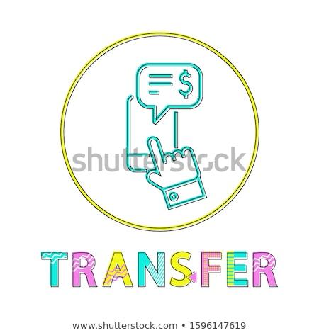 Transferência de dinheiro linear estilo ícone transferir Foto stock © robuart