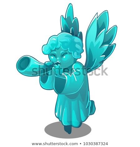 baby · cherub · mały · harfa · nieba · niebo - zdjęcia stock © lady-luck
