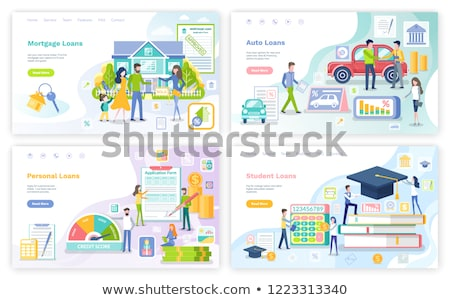 Mortgage and Personal Loan, Student Money Set Stock photo © robuart