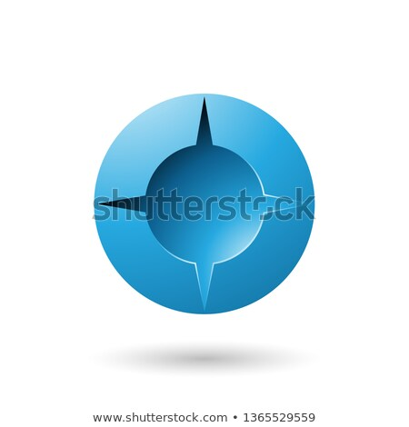 Blue and Bold Shaded Round Icon Vector Illustration Stock photo © cidepix