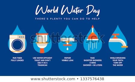 World Water Day information for nature help Stock photo © cienpies