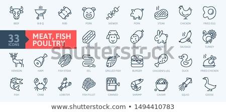 говядины куриные мяса рыбы животного белок Сток-фото © furmanphoto