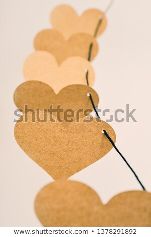Rosolare cartone cuori string primo piano carta Foto d'archivio © nito