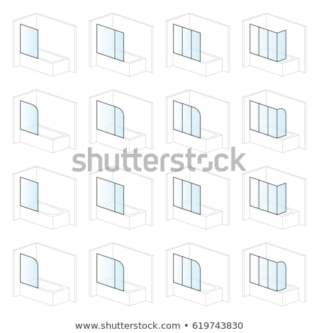 Bathtub screens, bathroom installation and montage solutions, pictogram types  Stock photo © ukasz_hampel