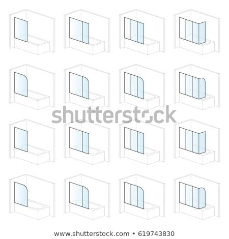 bathtub screens bathroom installation and montage solutions pictogram types stock photo © ukasz_hampel