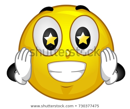Mascot Smiley Starry Eyed Illustration Stock photo © lenm