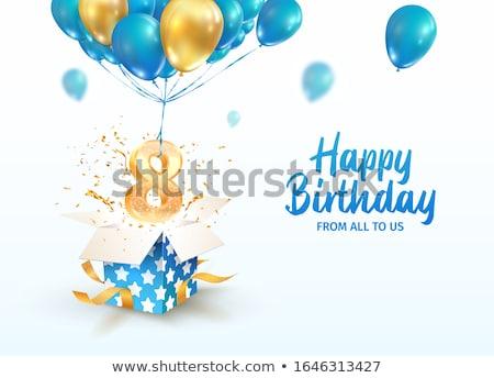 Aniversario nacimiento celebración número vector colorido Foto stock © pikepicture
