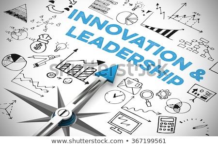 Kompass Text Symbole Innovation Business Technologie Stock foto © Zerbor