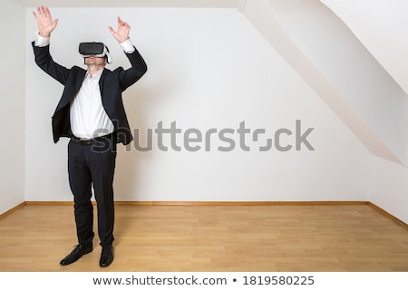 Empresario habitación vacía gafas no wallpaper Foto stock © ra2studio