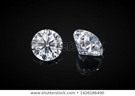 Nagy gyönyörű gyémánt ékszer 3D kép Stock fotó © AlexMas