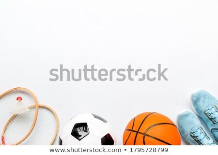 Equipamentos esportivos futebol basquetebol beisebol futebol tênis Foto stock © Lightsource