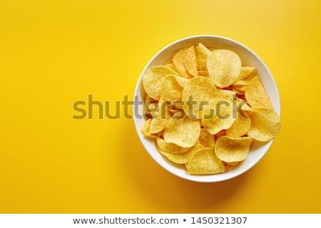 Potato chips on the plate Stock photo © Alex9500