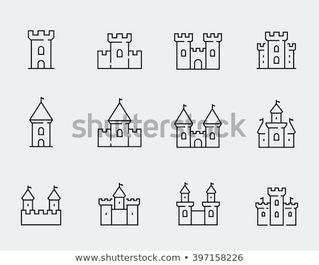 castle icon set stock photo © bspsupanut