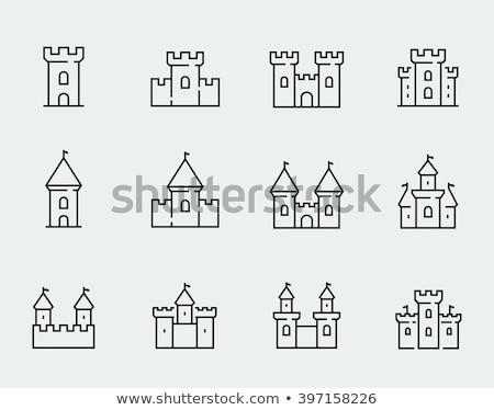 castle icon set Stock photo © bspsupanut