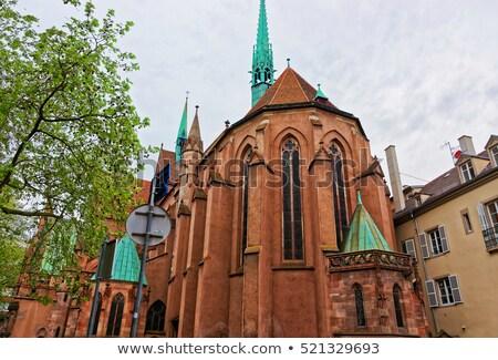 Protestante igreja um importante edifícios cidade Foto stock © borisb17