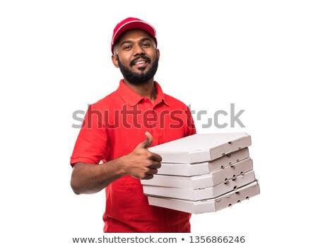 Indian Pizza Service Stock foto © dolgachov